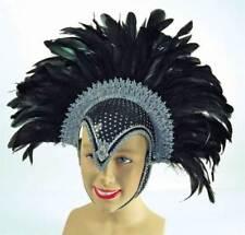 Maschere neri piuma per carnevale e teatro prodotta in Cina