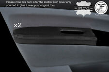 BLACK LEATHER 2X FRONT DOOR ARMREST COVER FITS TOYOTA PRIUS T3 T4 2005-2009