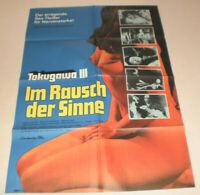 A1 Filmplakat ,IM RAUSCH DER SINNE,TOKUGAWA 3,JAPAN,SEX AKT
