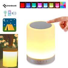 Dimmbare LED Lampe Farblicht Akku Bluetooth Lautsprecher Camping Kinderzimmer