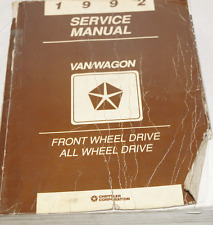 1992 DODGE RAM VAN WAGON CARAVAN Service Repair Shop Workshop Manual FWD + AWD