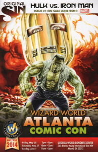 JG Jones Atlanta 2014 Wizard World Comic Con Program Hulk Iron Man Original Sin
