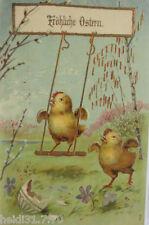 """""""Pasqua, Pulcini, Schaukeln"""" 1907, Cartolina rilievo (7076)"""