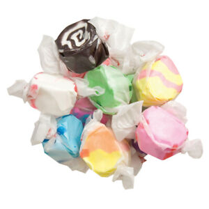 ASSORTED Salt Water Taffy Candy TAFFY TOWN 50 Pieces BEST PRICE FRESH-SHIPS FREE