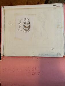 he-man masters of the universe Group Of Skeletor Drawings Photocopies In Folder