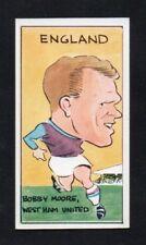 football Bobby Moore West Ham United  REDDISH MAID International footballers # 9