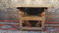 Antique 17th Century Oak monk's Bench/Table