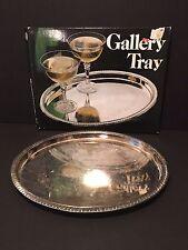 Vintage Silverplated Gallery Tray-Leonard Silver Mfg.In Original Box no.691