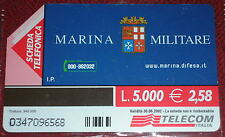 MARINA MILITARE TERZO MILLENIO ( GOLDEN 1166 ) / SCHEDA TELEFONICA TELECOM USATA