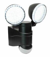 Double Outdoor Motion Sensor PIR Security LED Wall Light Twin Spot Light 2 Head