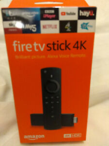 Amazon Fire TV Stick 4K Ultra w 2nd Gen Alexa Voice Remote - Black - Sealed New