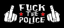FUCK THE POLICE NEU Patch gedruckt All COPS ARE B*STARDS AC/AB FCK CPS A.C.A.B.