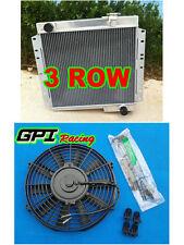 Aluminum Radiator for Toyota Land Cruiser FJ40 FJ45 Petrol MT LandCruiser + fan