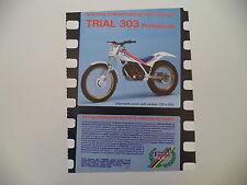 advertising Pubblicità 1987 FANTIC MOTOR TRIAL 303 PROFESSIONAL