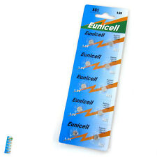 10 pcs AG1 GP364 LR621W GP64A 1.5V Alkaline Button Cell Battery EuniCell CAN