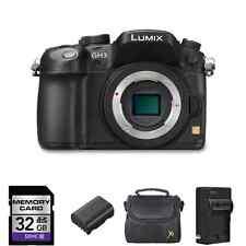 Panasonic Lumix DMC-GH3 Digital Camera (Body) + 2 Batteries, 32GB + More!