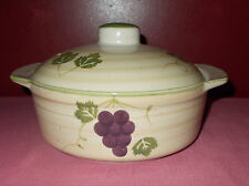 Mulberry Home Collection CASSEROLE DISH Heavy Ceramic Stoneware 2007 8 inch