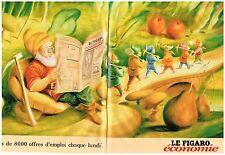 PUBLICITE  1998   LE FIGARO ECONOMIE    plus de 80000 offres emploi (2 pages)