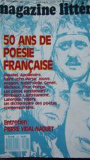 MAGAZINE LITTERAIRE 1987 No 247 50 ans de POESIE FRANCAISE APOLLINAIRE RIMBAUD
