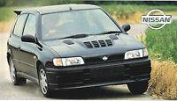 NISSAN SUNNY GTI-R SPEC SHEET/Brochure:1992,1993,1994