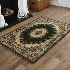 Empire Traditional Green Cream Classic Rug Carpet Mats X Large 200x290cm