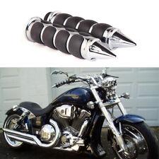 """Chrome Motorcycle Hand Grips 1"""" Handlebar For Honda VTX1800R VTX1800 VTX1300R HG"""