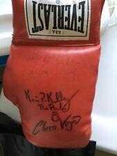 "Multi Signed Everlast Boxing Glove - Ortiz,Antuofermo,Vejar,Kelley ""Flas"""