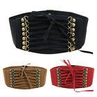 robe femmes taille large ceinture corset extensible, élastique lacet souple