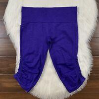 Lululemon Size 10 Heathered Iris Flower In The Flow Crop II Leggings Pants