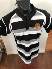 MENS XLarge Rugby Jersey Barbarian Pro-fit #14 Black / Grey / White