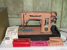 Brother Precision Streamliner Deluxe PINK Sewing Machine RETRO w Case & MORE