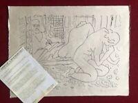 """Henri Matisse """" Modèle Refleté Dans The Miroir """", Cahiers D'Art 45X60 Lithograph"""