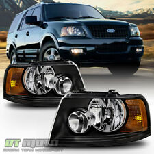 Blk 2003-2006 Ford Expedition Headlights Headlamps Aftermarket 03-06 Left+Right