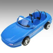 4-seats Blue Convertible Car Cabriolet Toy For Barbie Dolls metallic wheels
