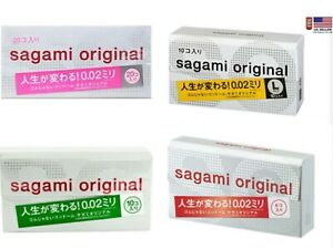 Sagami Original 002 condoms non-latex polyurethane Ultra Thin 0.02mm  4 types