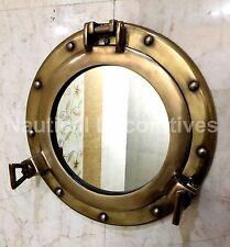 """11"""" Porthole Mirror Antique Finish Cabin Porthole~ Ship Porthole ~Nautical Decor"""