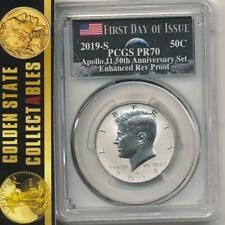 2019 S ENHANCED REVERSE PROOF KENNEDY HALF DOLLAR PCGS PR70 FIRST DAY OF ISSUE