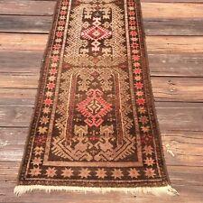 Antique Turkish Oushak Rug Narrow Runner 10 X 2