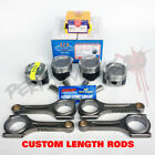 YCP 75mm D16 Vitara Pistons + NPR Rings & Custom Length Rods TEFLON Kit