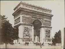 Paris, L'Arc de Triomphe de l'Etoile  Vintage albumen print.   Tirag