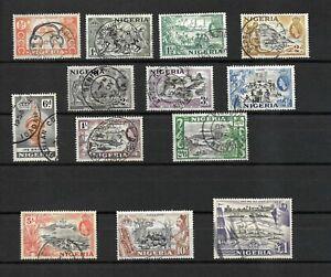 Nigeria, QEII 1953 pictorials complete set used (N052)