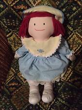 Madeline Vintage DOLL MADELEINE Dress Straw Hat & Appendix Scar Plush Eden 1990