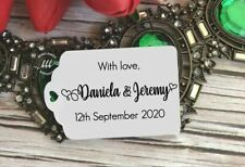 10 White Gift Tags Wedding Favour Bomboniere Personalised With Love