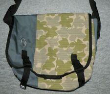 NICE! TIMBUK2 Gray & Floral Green Medium Messenger Crossbody Laptop Bag