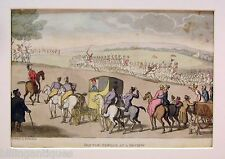 ENGRAVING DR.SYNTAX  ROWLANDSON  DR.SYNTAX AT A MILITARY REVIEW ACKERMANS 1813