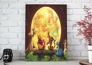 Winnie The Pooh Custom Poster, Pooh Rolled Print , Custom Eeyore Canvas, Tigger