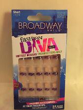 **LOOK** 2 Packs of Broadway Fashion Diva Short Nails #53016 BGFD04 (Strut)