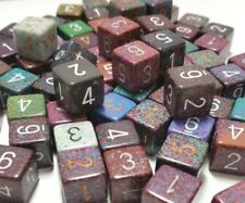 (25) Chessex D6 Random Color Numbered Gaming Dice Set, 6 Sided Lot DnD D&D RPG