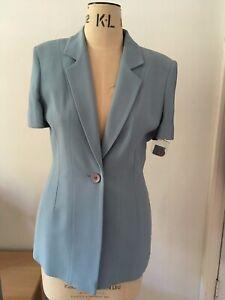 light blue dress & jacket size 10 wool blend single breasted jacket mini dress
