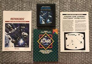 Asteroids - Atari 2600 Video Game Cart (Tested), Manual, Insert & Poster